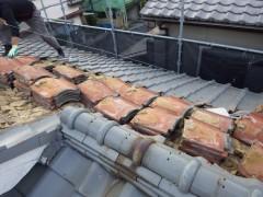 渡辺邸屋根葺き替え工事 (4)